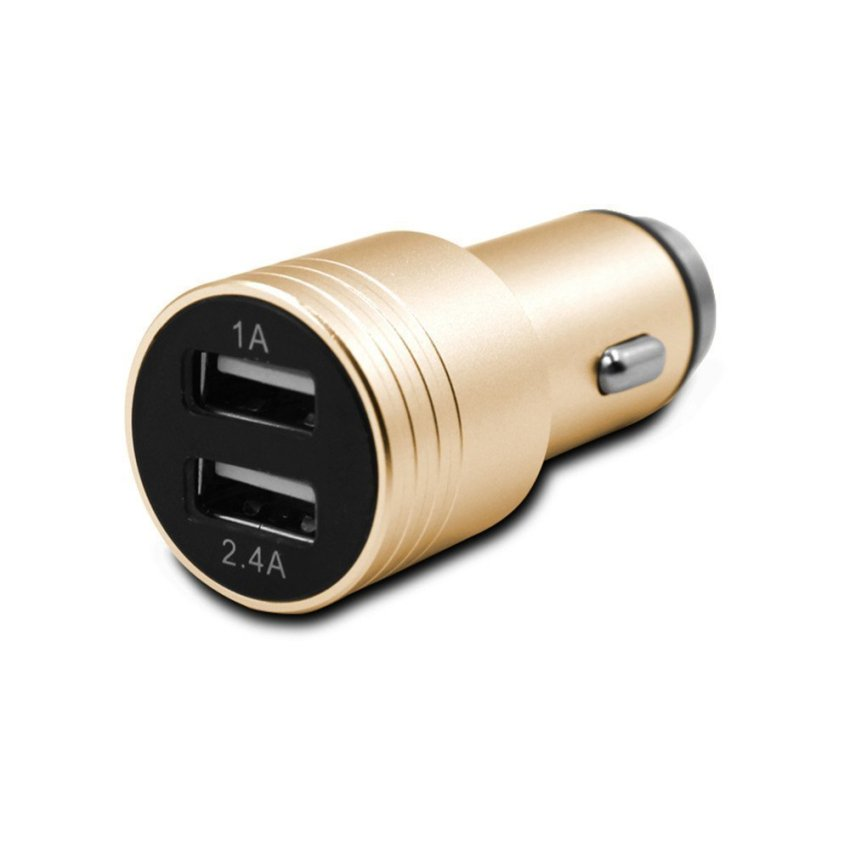 3.1a 15w Dual USB Ports Car Charger with Car Escape Emergency Safety Hammer Function (Gold) (Intl)