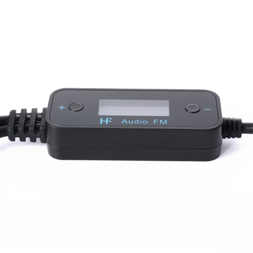 3.5mm Car Audio Radio FM Transmitter with Car Charger for Smart Phone AC243-SZ (Black)