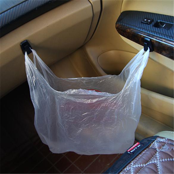 3 PCs Convenient Vehicle Hangers Auto Car Bag Hook Holder Black (Intl)