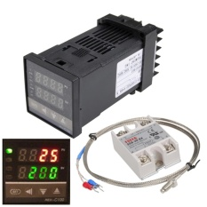 0℃~1300℃ Alarm REX-C100 Digital LED PID Temperature Controller Kits AC110V-240V - intl