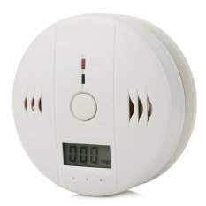 "1.25"" LCD High Sensitivity Carbon Monoxide Detector Alarm W / Blue Screen - White"