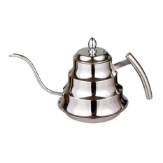 1.2L Fine Mouth Stainless Steel Coffee Pot Hand Drip Coffee Pot Silver