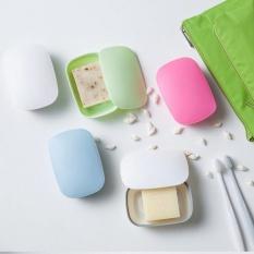 1 PCS Sealed Soap Box Plastic Creative Travel Portable Soap Dish Soap Tray (White) - Intl
