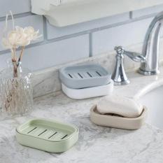 1 PCS Thicken Drain Soap Box Plastic Creative Soap Dish Soap Tray (Blue) - Intl