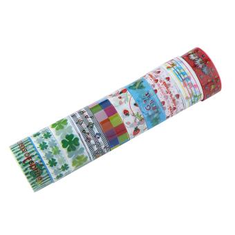 10 gulungan buatan sendiri lucu pita dekoratif Satin renda pitaperekat kain panas Washi Tape stiker
