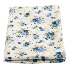 100cmx150cm Rose Floral Flowers Cotton Fabric For DIY Craft Dress Making Sewing Blue NEW - Intl