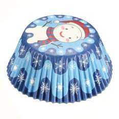 100pcs Christmas Xmas Cake Baking Paper Cup Cupcake Muffin Cases Fit Home Party Christmas Snowman