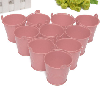 10x Mini Cute Bucket Colored Wedding Party Favour Keg Box GiftPails Candy Lolly Pink