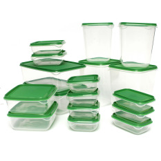 17pcs Sealed Crisper Refrigerator Plastic Food Storage Box Preservation Box Container Kitchen Supplies