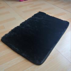 2 Buah Berbulu Halus Anti Selip Ramus Area Kamar Tidur Karpet Lantai Rumah .