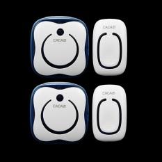 2 Emitter + 2 Receivers Waterproof 280M Long-Range Wireless DoorBell, Wireless Door Chime, Wireless Bell, Door Bell, 48 Melodies Bell