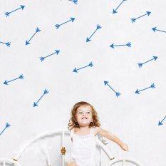 2016 New Cute Arrows Wall Sticker DIY Home Decor Bedroom Decoration PVC Wall Decal -Blue