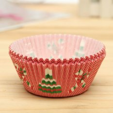 25pcs Xmas Colorful Paper Cake Cupcake Liner Case Wrapper Muffin Baking Cup #22 - Intl
