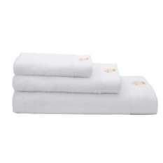 3 In 1 100% Cotton Thickened Bath Towel + Face Towel + Hand Towel Soft And Water Absorption (Export) (Intl)