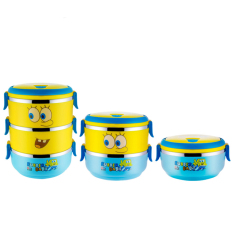304 Stainless Steel Cartoon Lunch Box Food Container 700ml (1 Layer) - Intl