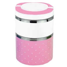 304 Stainless Steel Three Layer Lunch Box.Plastic Lunch Box Lunchbox Bento Lunch.Leak Proof Heat Insulation Barrel. Box Food Container Student's Lunch Box (Pink)