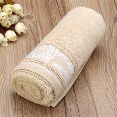 34*74cm Cotton Towel Face Cloth Hand Bath Towel Khaki - Intl