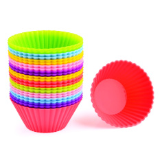 360DSC 24Pcs Silicone Cake Muffin Chocolate Cupcake Liner Egg Tart Baking Cup Mold - Random Color
