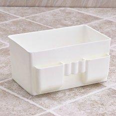 ... 360DSC kapasitas besar kosmetik plastik kotak penyimpanan kasus Oragnizer meja putih Internasional