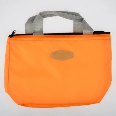 360DSC Oxford Fabric Lunch Container Thermal Insulated Lunch Box Cooler Bag Tote Bento Pouch - Orange - Intl