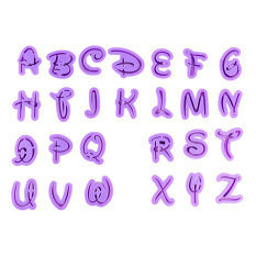 36pcs English Letter Font Alphabet Cookie Cutter Number Cookie Cutter Set Cake Tool - Intl