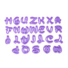 36Pcs English Letters Alphabet Numbers Cookie Cutter Set Fondant Mold Cake Decoration