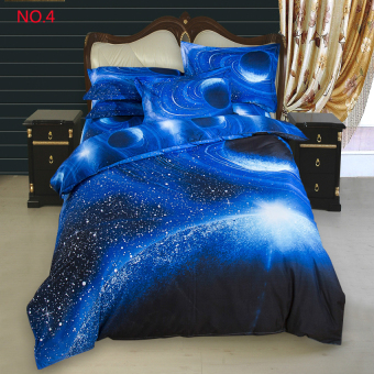 3d Galaxy Bedding Sets 2pcs Duvet Cover (150*210CM) Pillow Case (48*74CM) Set