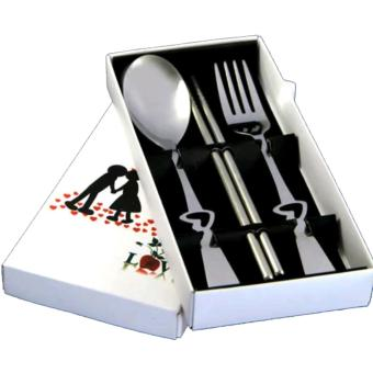 3in1 spoon set love shaped with box