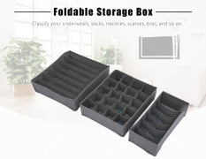3pcs Bamboo Charcoal Fiber Clothing Storage Containers