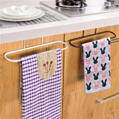3pcs Kitchen Iron Door Rail Single Towels Shelf Bathroom Rack Holder Bar Hangers Hook