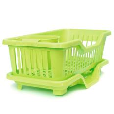 4-Color Kitchen Dish Sink Drainer Drying Rack Wash Holder Basketorganizer Tray Green - Intl