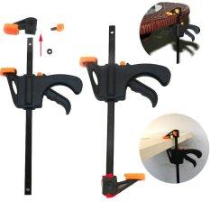 4 Inch Wood Working Bar F Clamp Grip Ratchet Release Squeeze DIY Hand - intl
