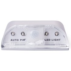 4 LED Motion Sensor LED Night Light PIR Auto Keyhole LED Sensor Doors Motion Detector Lamp (Silver) (Intl)