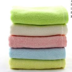 4 PIECES / SET Bamboo Fiber Pure Bamboo Small Square Authentic 100% Pure Bamboo Fiber 32 Grams Of Saliva Towel - Intl