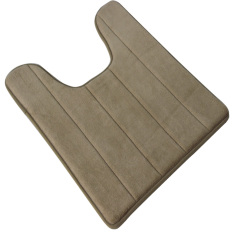 40 X 60cm U Shape High Density Anti-slip Bathroom Toilet Pedestal Rug Carpet Floor Mat Khaki