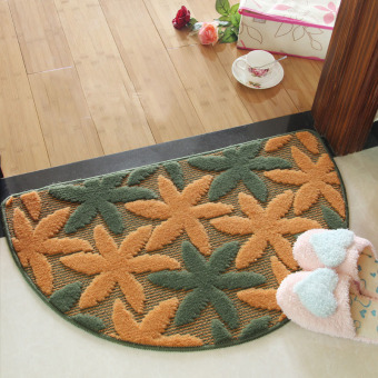 40X62CM New Hot Sale Semicircle Bedroom Rug Floor Mats Doormat Absorbent Non-Slip Mats Living Room Carpet Cushion