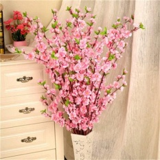 50'' Artificial Cherry Spring Plum Peach Blossom Branch Silk Flower Tree Decor - intl