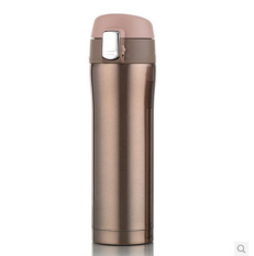 500ml Bounce Lip Thermos Bottle Stainless Steel Insulated Vacuum Flasks Water Bottle Cup (Champagne)