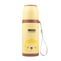 500ml Cartoon Stainless Steel Vacuum Flasks Thermos Cup-Lion (Yellow) (Intl)