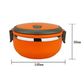 555 Lunch box rantang stainless steel 1 susun - orange