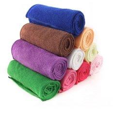 5pcs 35*75cm Absorbent Microfiber Hair-drying Towels (Color Send At Random)