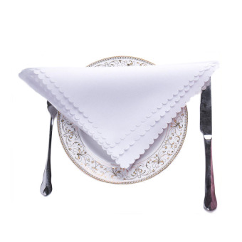 5Pcs High Quality Hotel Jacquard Cloth Napkins Wedding Banquet White - Intl