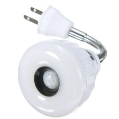 5.2835 SMD 25 LED PIR Infrared Sensor Motion Light Lamp Bulb US Plug 85-265V Warm White (Intl)