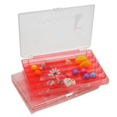 6 Cell Colorful Jewelry Storage Box Storage Box Tablet Pills - Pink (K8115)