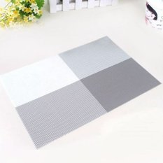 6pc Placemats Coasters Waterproof Insulation Mat Kitchen Dining Table (Grey) (Intl)