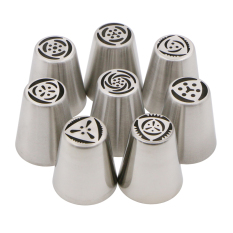 8Pcs / Set Baking Pastry Tools Cake Decorating Nozzle Russian Piping Tips - Intl