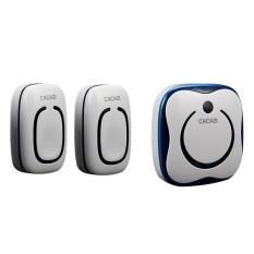 9809 - 2-1.2 emitor + 1 receiver Waterproof 280 m jangka panjang bel pintu nirkabel, lonceng pintu nirkabel, Wireless bel
