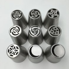 9pcs / Set Russian Tulip Nozzle Perfect For Cake Cupcake Decorating Icing Piping Nozzles Rose Nozzles Tips (Intl)