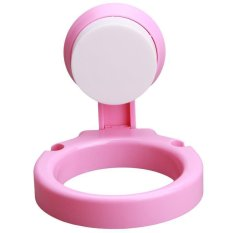 Ai Home Bathroom Wall-mounted Sucker Hair Dryer Holder Stand Rack Hairdryer Organizing Holder With Suction Cup (Pink) - Intl