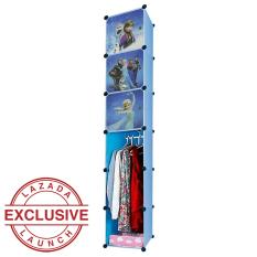 AIUEO Lemari Pakaian Motif Frozen 3 Pintu 3 Kotak 1 Gantungan Type 6.4 - Biru